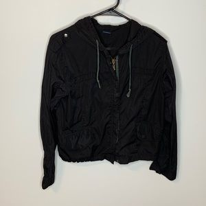 Brandy Melville Black Rain Jacket Size Small